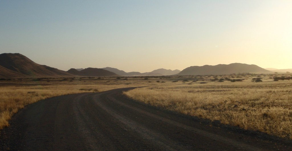 The Namibian farmland at the start of sundown - Africa