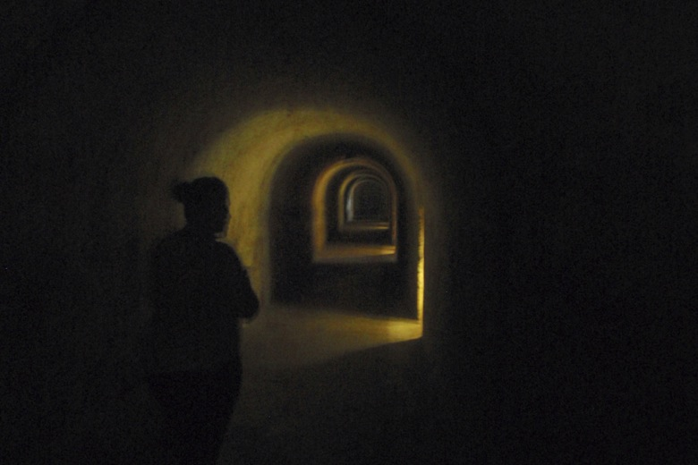 Tunnels under El Castillo in San Juan, PR - holy crap these are creeeepy!