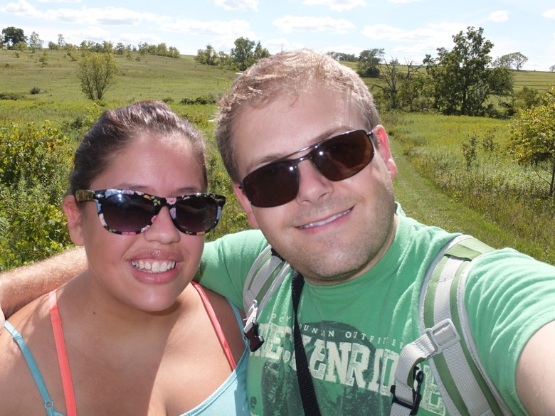 Hiking at New Glarus Woods - I think we earned some beers - to bad the brewery was closed :(